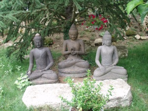 Three Buddhas in Plum Village