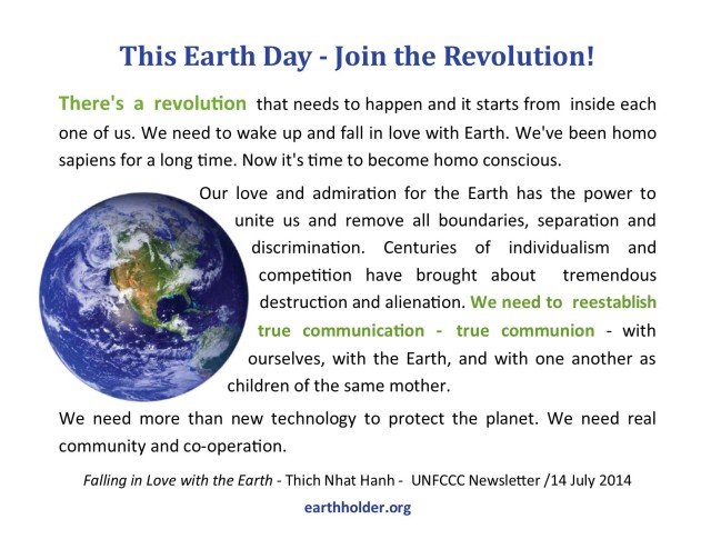 This Earth Day - Join the Revolution!